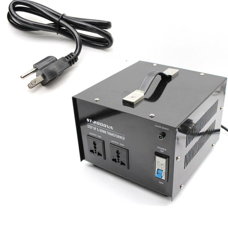 1500W Watt Step Up Down Electric Power Voltage Converter Transformer 14-15A USA