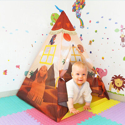 Teepee For Girls (Kids Indian Teepee Play Tent for Boys and Girls Playhouse Princess Castle)