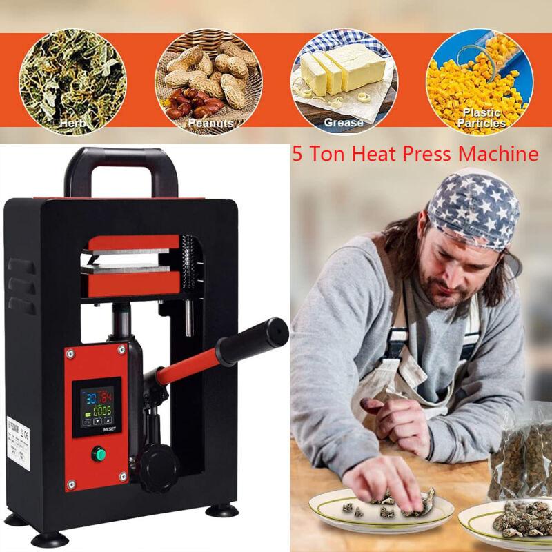 "Personal 5 Ton Hydraulic Rosin Press Machine   Dual 2.4x4.7"" Rosin Press Plates"