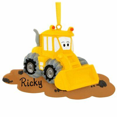 Christmas Personalized Ornaments (Bulldozer Personalized Christmas)