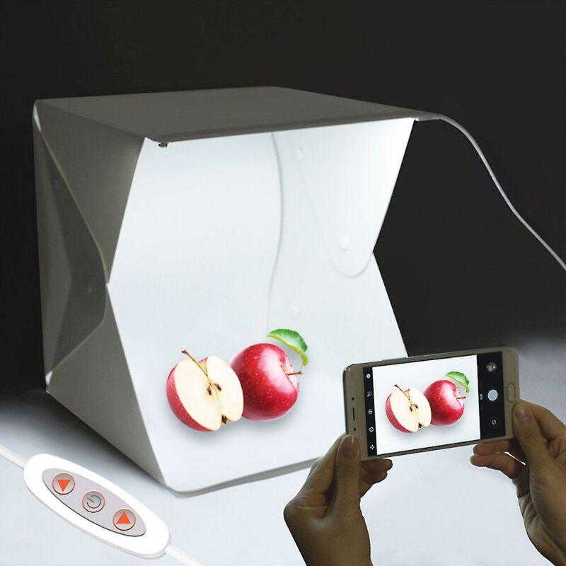 "Light Room Photo Studio 16"" Photography Lighting Tent Kit Backdrop LED Cube Box"