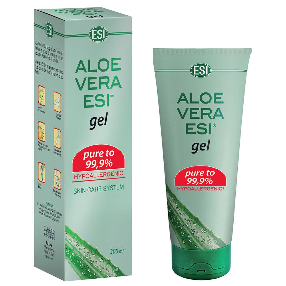 Aloe Vera Gel Hautgel 99,9% Feuchtigkeit Hautpflege Sonnenbrand Verbrennung ESI