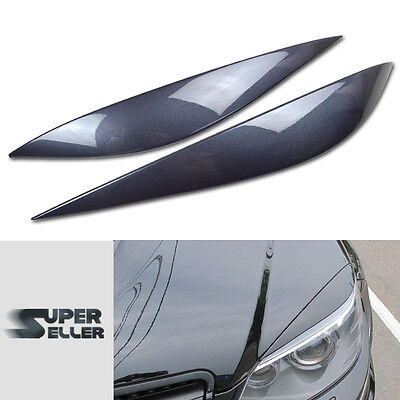 PAINTED Fit For Mercedes Benz W204 C CLASS HEADHIGHT LAMP COVER EYEBROWS EYELIDS