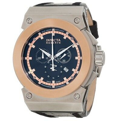 Swiss Made Invicta 10947 Akula Reserve Chronograph 18K Rose Gold Tone Mens Watch