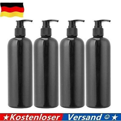 4stk 500ml Lotion Shampoo Duschgel Seifenspender Leere Bad Pumpflasche Schwarz