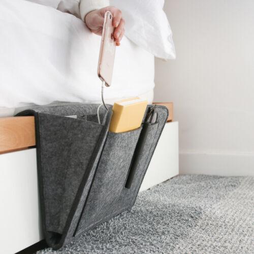 Tasche Nachttisch Bett Sofa Aufbewahrung Für Bücher Handyhalter Organizer 1x Neu