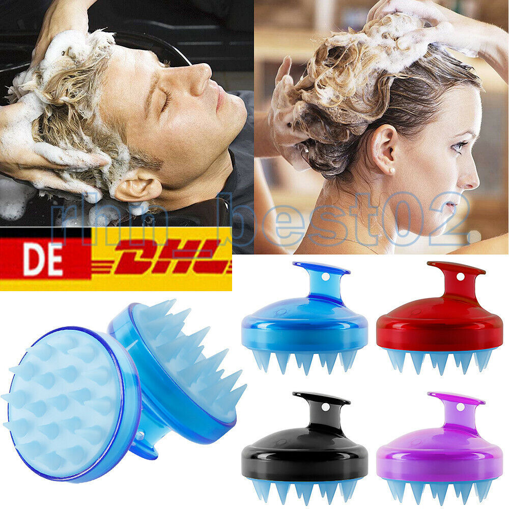 2 Stück Kopfhautbürste Shampoo Massage Kamm Duschkopf Haarwasch Massagegerät