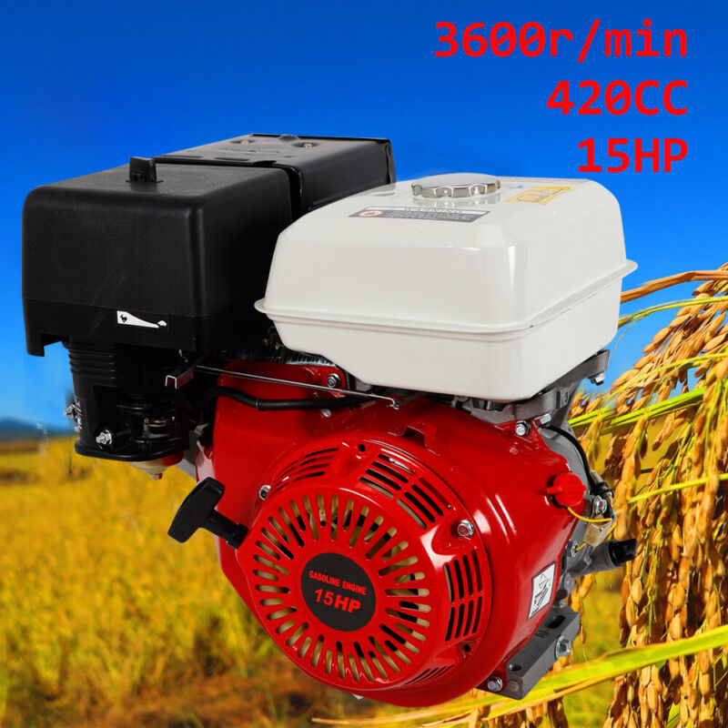 4 Stroke 420CC 15HP OHV Single Cylinder Air Cooling Engine Recoil Pull Start New