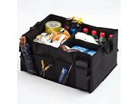 Foldable car boot storage bag