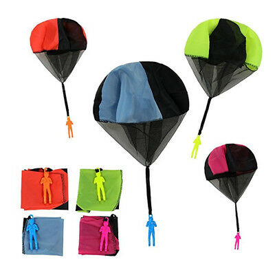 2pcs Kid Children Tangle Free Toy Hand Throwing Parachute Kite Outdoor Game DT4X