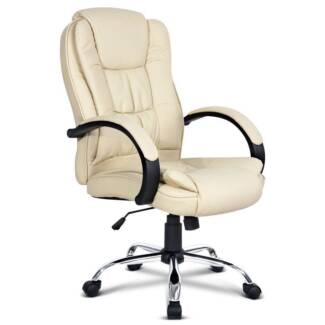 Deluxe PU Leather Computer Chair High Back Headrest Office Desk