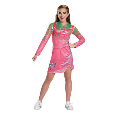 Pink Girl Costume (Girls Disney Zombies Classic Addison Cheerleader)