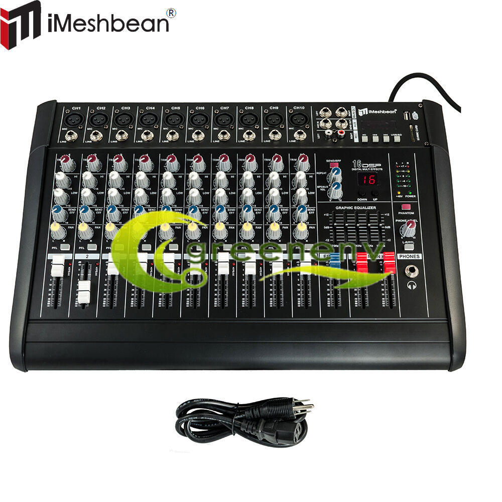 10 Channel Professional Powered Mixer Power Mixing Amplifier
