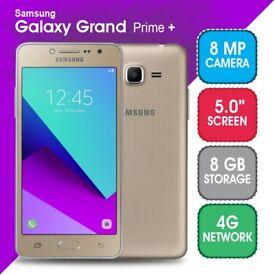 Samsung galaxy grand prime plus 8gb sim free brand new boxed with warranty