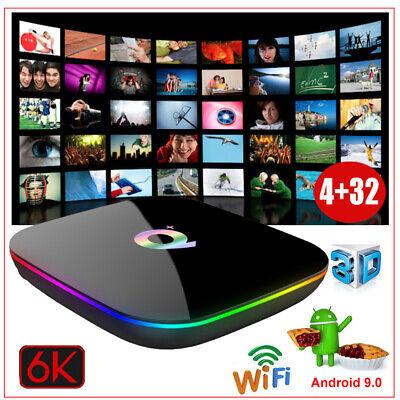 Q plus 6K Android 9.0 Smart TV Box 4+32G Quad Core WIFI USB 3.0 Media Player US