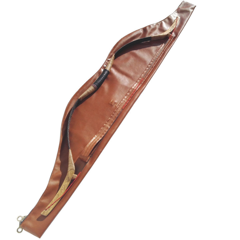 Archery Traditional Bow Bag Arrow Cover Case Recurve Longbow Waterproof Leather