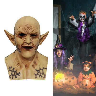 Halloween Costume Horror Mask Headgear Demon Clown Vampire Orc Mask Cosplay US