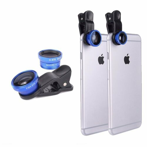 3 in 1 Fish Eye Wide Angle Micro Lens Camera Lens For iPhone 6 Plus 5 5S Samsung