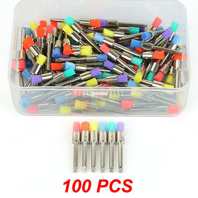 100pcs Dental Nylon Closure Small Flat Polishing Polisher Prophylaxis Brushes