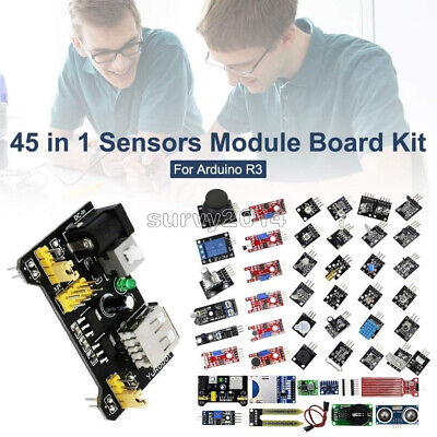 45 In 137 In 1 Sensor Module Starter Kit Set For Arduino Raspberry Pi Education