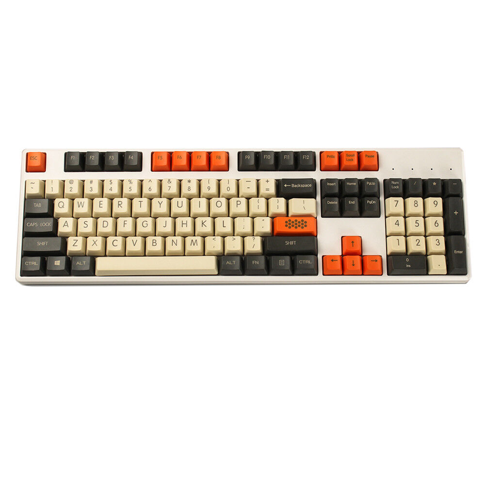 YMDK Carbon 61 87 104 Top Print Keyset Thick PBT OEM Profile