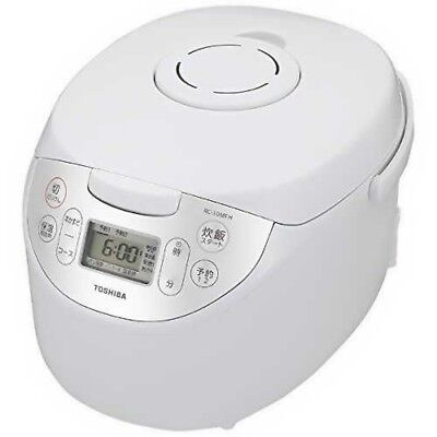 TOSHIBA RC-10MFH-W Microcomputer Rice Cooker 5.5 go White Fast Shipping Japan