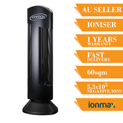 Ioniser Air Purifier Ionmax Ion401 Ionic Home  Filter Tower Office Room Black