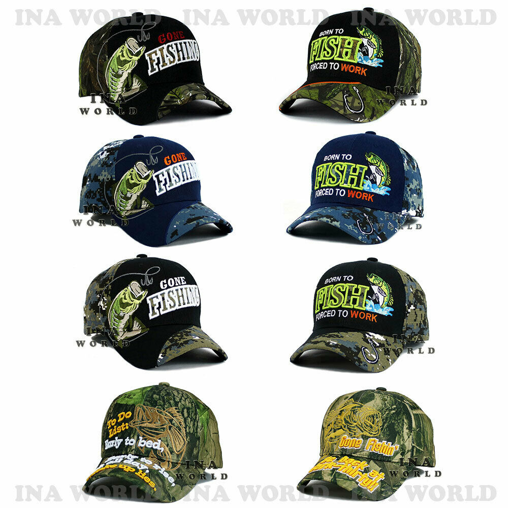 FISHING hat FISH Embroidered Outdoor Sports Baseball cap- Mi