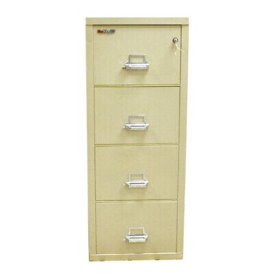 Fireking 25 Vertical 4-drawer Beige 1hr Fire Safe Records Legal Filing Cabinet