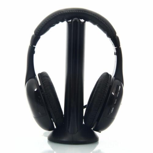 5 in 1 Hi-Fi Wireless Headset Headphone Earphone for TV DVD