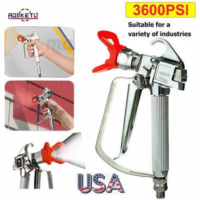 3600psi High Pressure Airless Paint Spray Gun 517tip Spraying Machine Guard Us
