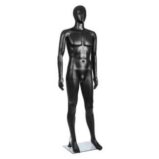 Full Body Male Mannequin Cloth Display Tailor Dressmaker Black 18