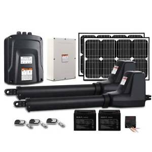 Gate Opener Double Swing 40W  2 x Solar Panel  Remote Control 1000kg Kings Beach Caloundra Area Preview