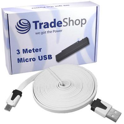 3m langes USB Kabel Ladekabel Flachkabel für LG Quantum CF360 Lg Cf360 Usb