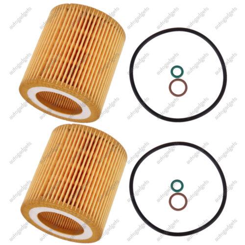 For BMW 2 Engine Oil Filter 11 42 7 541 827 HU816x (Set of 2)