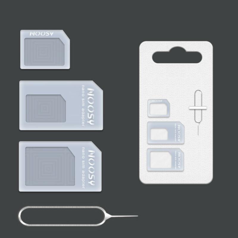 SIM Card Adapter Kit 4 in 1 Nano Micro Standard Size Converter tray SmartPhone