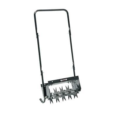 Push Spike Aerator Lawn Care Comfortable Handle Steel Weight Durable Wide Tray
