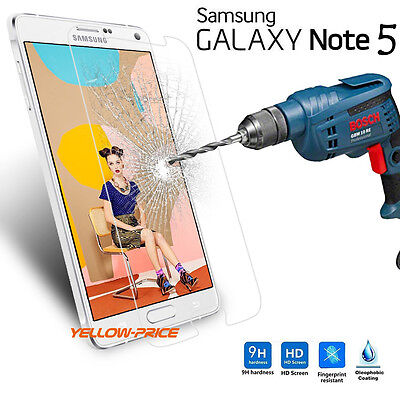 Samsung Galaxy Note 5 Premium Tempered Glass Screen Protector Guard 2015