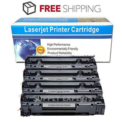 4PK Black CB436A 36A Toner Cartridge For HP LaserJet P1505 P1505n M1522n M1522nf ()