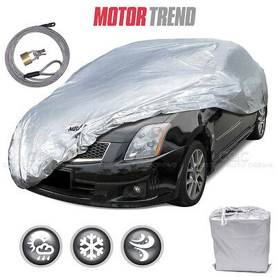 Motor Trend All Season Outdoor Waterproof Car Cover Fits up to 157 W Lock