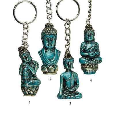 Schlüsselanhänger Thai Buddha Türkis und Gold Anhänger aus Polyresin Thailand ()