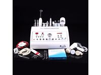 8in1 Ultrasonic High Frequency Galvanic Dermabrasion Machine Scrubber Beauty Spa
