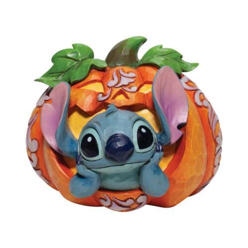 Jim Shore Disney Traditions *NEW* Stitch in Jack O Lantern Figurine 6007080