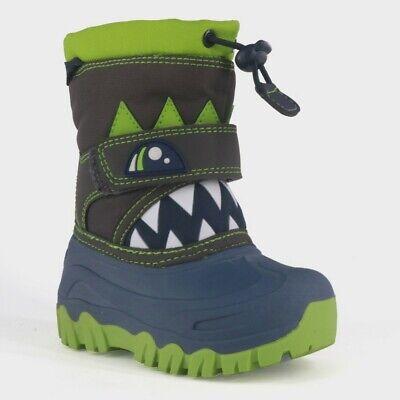 Cat & Jack Toddler Boys' Bernardo Monster Warm Winter Boots Navy Blue Size 4
