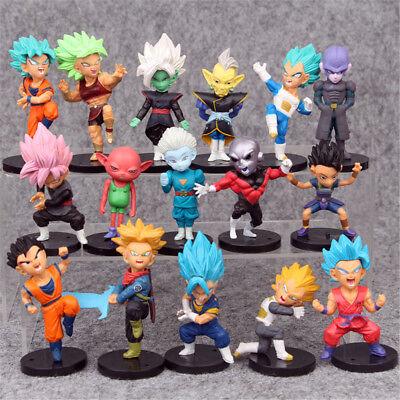 Dragon Ball Z Vegeta Son Goku 16 PCS Mini Action Figure Cake Topper Figurine Toy - Dragon Ball Z Goku