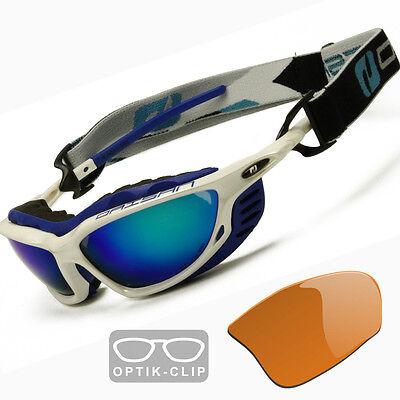 Brillenträger - Sportbrille Skibrille mit Optik-Clip verglasbar in Sehstärke