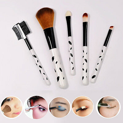 5Pcs/Set High Quality Makeup Brushes Set Blush Eye Shadow Eyebrow Lipstick Brush