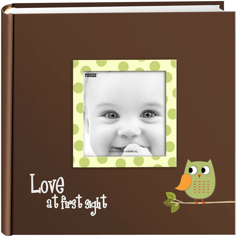 Pioneer 4x6 Baby Owl Raised Frame Photo Album Holds 200 Pictures Green