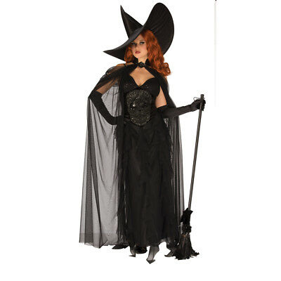 Womens Elegant Witch Halloween Costume - Elegant Witch Costume