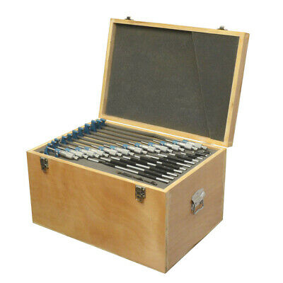0-12 X 0.0001 Outside Micrometer Set Metal Frame Carbide Tip Wooden Case